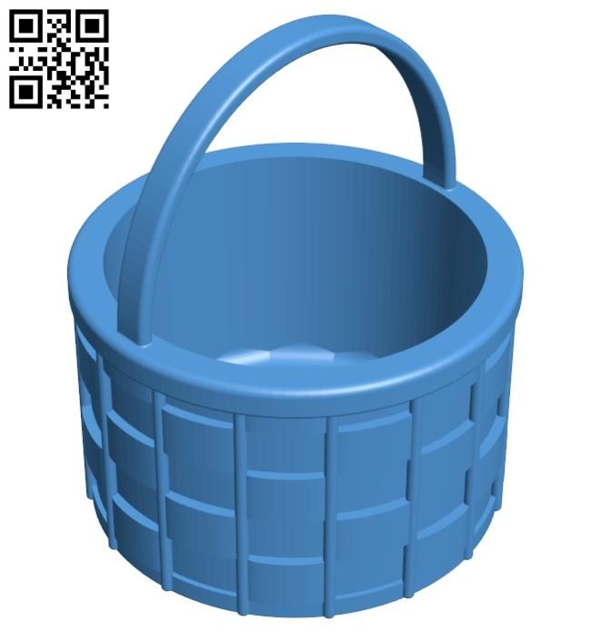 Easter Basket B007427 file stl free download 3D Model for CNC and 3d printer