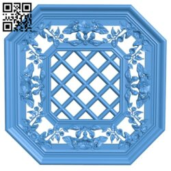 Eight-sided frame pattern A004926 download free stl files 3d model for CNC wood carving