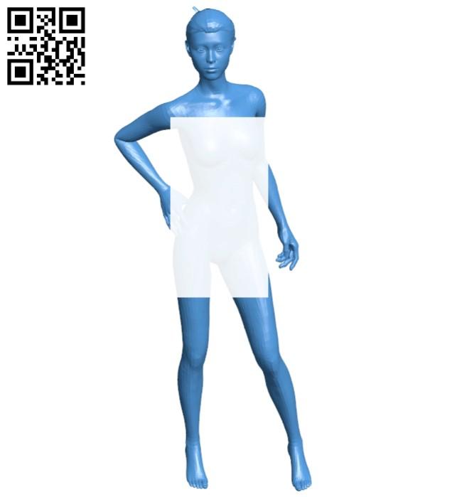 Elegant woman B007389 file stl free download 3D Model for CNC and 3d printer
