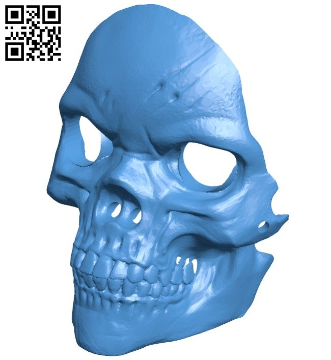 Face mask skull with nose holes B007486 file stl free download 3D Model for CNC and 3d printer