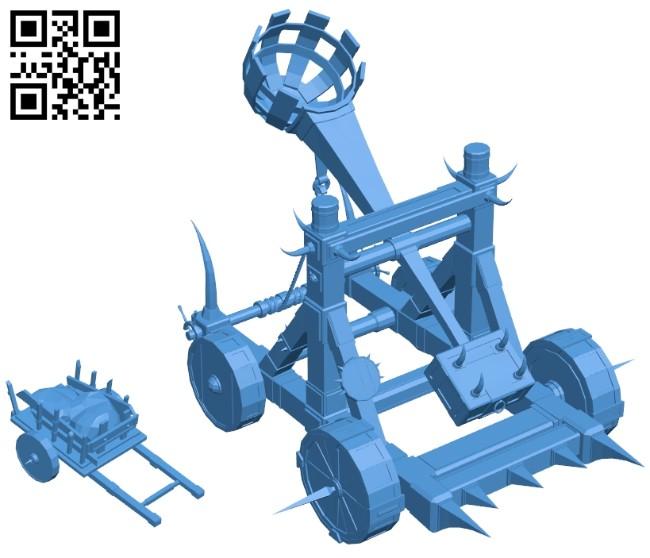Fantasy catapult B007415 file stl free download 3D Model for CNC and 3d printer