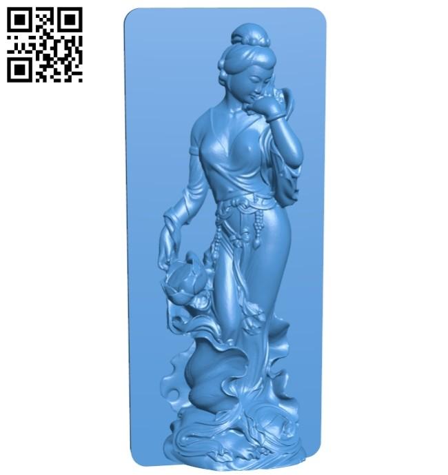 Female guard statue B007574 file stl free download 3D Model for CNC and 3d printer