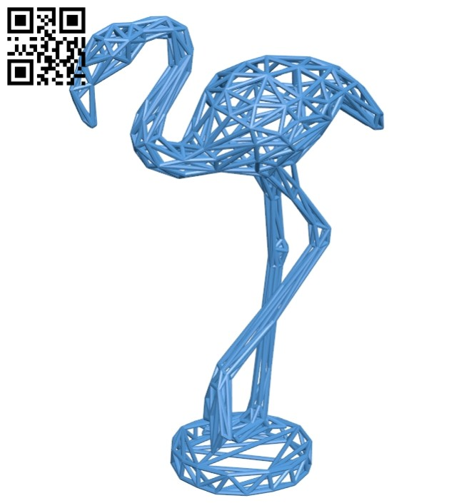 Flamingo decor B007431 file stl free download 3D Model for CNC and 3d printer