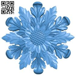 Flower decor pattern A004932 download free stl files 3d model for CNC wood carving