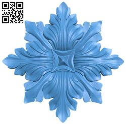 Flower decor pattern A004933 download free stl files 3d model for CNC wood carving