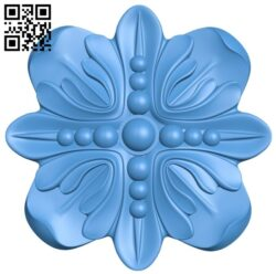 Flower decor pattern A004934 download free stl files 3d model for CNC wood carving