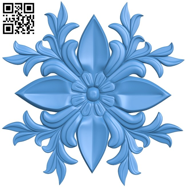Flower decor pattern A004935 download free stl files 3d model for CNC wood carving