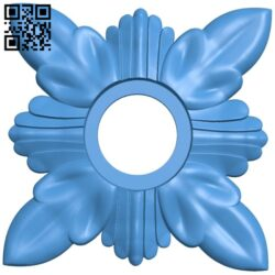 Flower decor pattern A004936 download free stl files 3d model for CNC wood carving