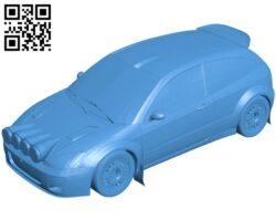 Focus racing car B007511 file stl free download 3D Model for CNC and 3d printer