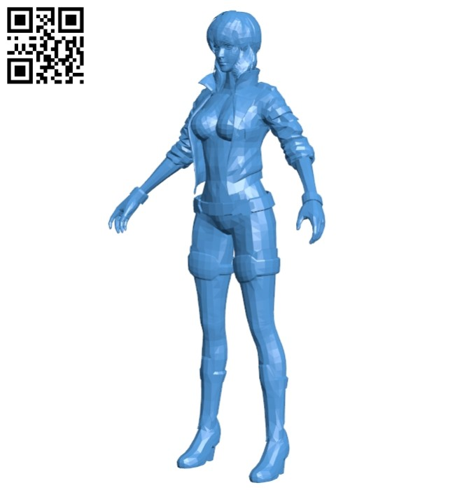 Ghost in the shell motoko B007501 file stl free download 3D Model for CNC and 3d printer