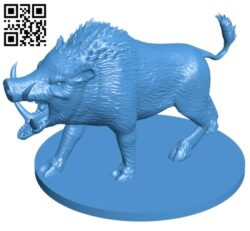 Giant Boar B007145 file stl free download 3D Model for CNC and 3d printer