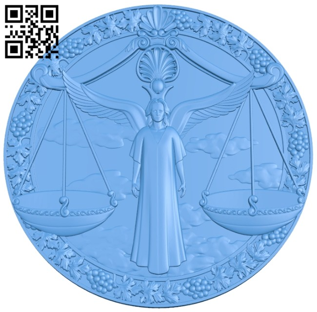 God of justice picture A004943 download free stl files 3d model for CNC wood carving