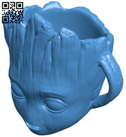 Groot cup B007198 file stl free download 3D Model for CNC and 3d printer