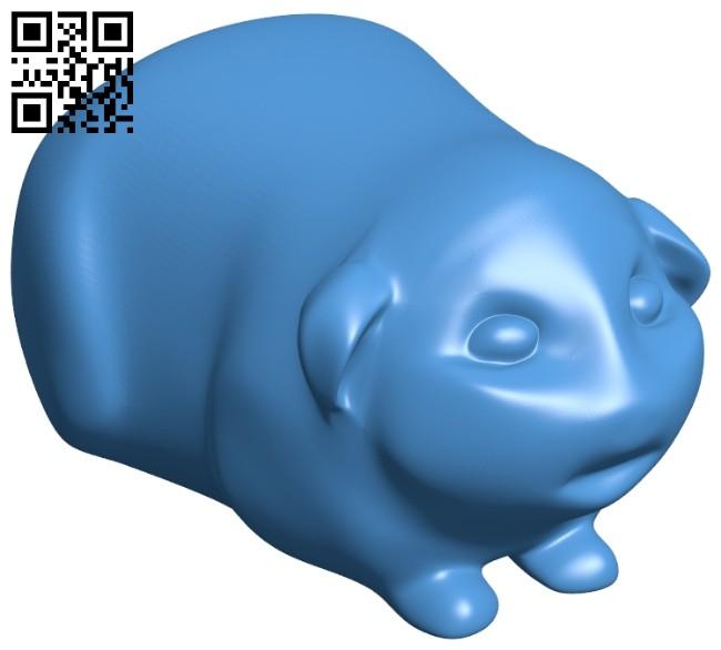 Guinea pig B007553 file stl free download 3D Model for CNC and 3d printer