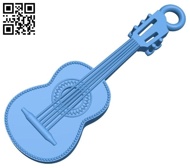 Guitar pendant B007429 file stl free download 3D Model for CNC and 3d printer
