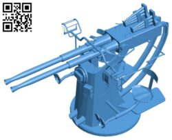 Gun bofors B007592 file stl free download 3D Model for CNC and 3d printer