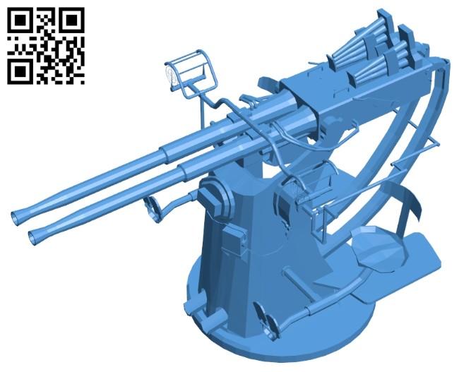 Gun bofors B007592 file stl free download 3D Model for CNC and 3d printer