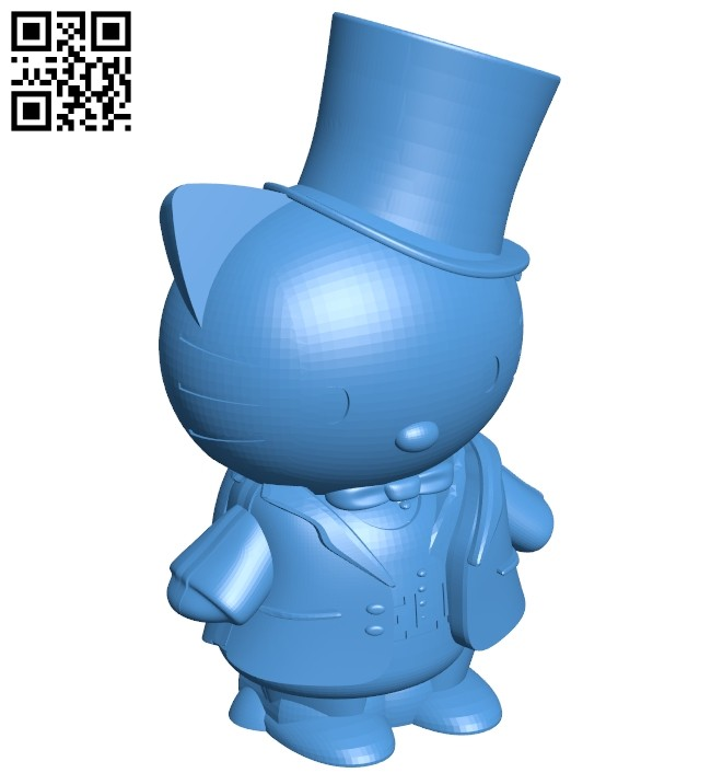 Hello kitty groom B007505 file stl free download 3D Model for CNC and 3d printer