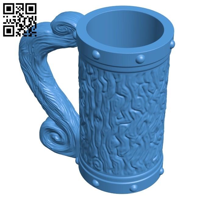 Hogwarts Mug B007518 file stl free download 3D Model for CNC and 3d printer
