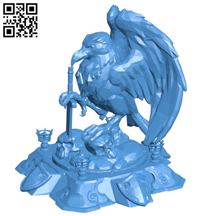 Hots buildings core raven B007509 file stl free download 3D Model for CNC and 3d printer