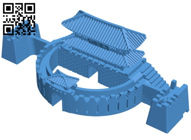 Hwasung fortress - house B007536 file stl free download 3D Model for CNC and 3d printer