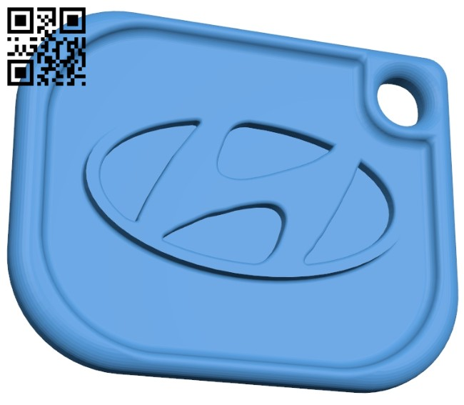 Hyundai keychain B007460 file stl free download 3D Model for CNC and 3d printer