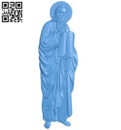 Icon Saint Moses A004826 download free stl files 3d model for CNC wood carving