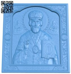 Icon of Nicholas the A004828 download free stl files 3d model for CNC wood carving