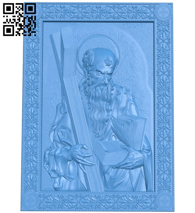 Icon of the Apostle Andrew A004823 download free stl files 3d model for CNC wood carving