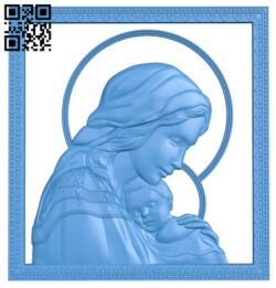 Icon of the Mother of God A004824 download free stl files 3d model for CNC wood carving