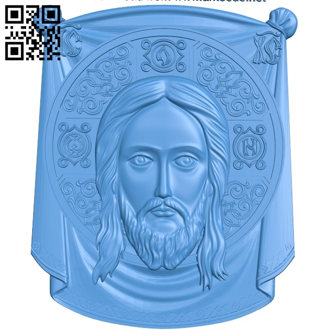 Icon of the Savior A004825 download free stl files 3d model for CNC wood carving