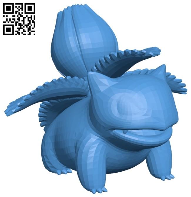 Ivysaur pokemon B007534 file stl free download 3D Model for CNC and 3d printer