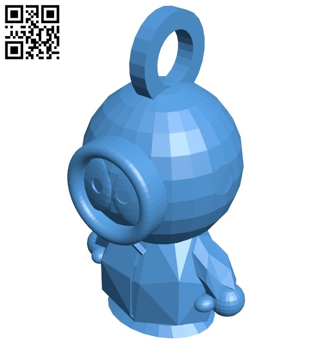 Kenny mccormick keychain B007497 file stl free download 3D Model for CNC and 3d printer
