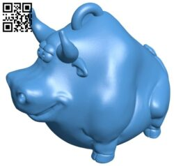 Keychain attached to a bull B007468 file stl free download 3D Model for CNC and 3d printer