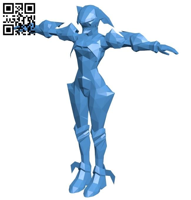 Kingdom Hearts - Aqua Armor B007375 file stl free download 3D Model for CNC and 3d printer