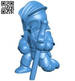 Knight kneeling B007459 file stl free download 3D Model for CNC and 3d printer