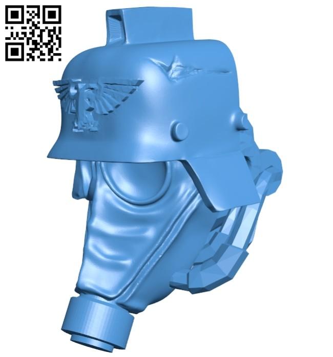 Krieg knight head B007458 file stl free download 3D Model for CNC and 3d printer
