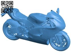 Large displacement motorcycle B007356 file stl free download 3D Model for CNC and 3d printer
