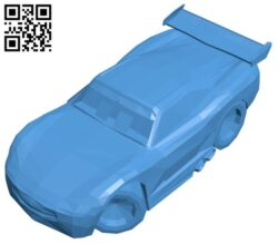 Lightning McQueen car B007398 file stl free download 3D Model for CNC and 3d printer