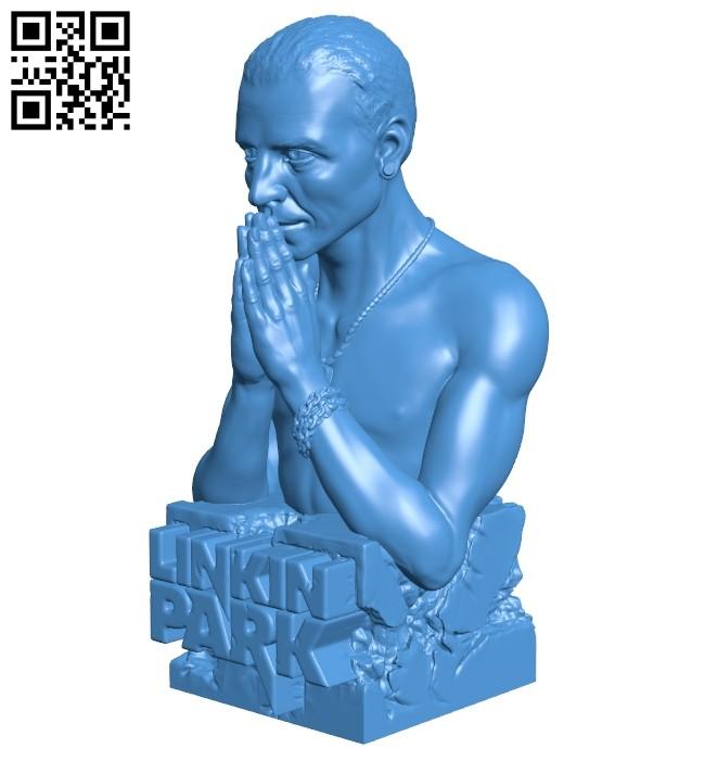 Linkin park chester bennington B007489 file stl free download 3D Model for CNC and 3d printer