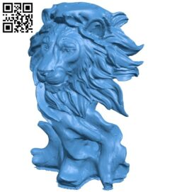 Lion Sculpture B007443 file stl free download 3D Model for CNC and 3d printer