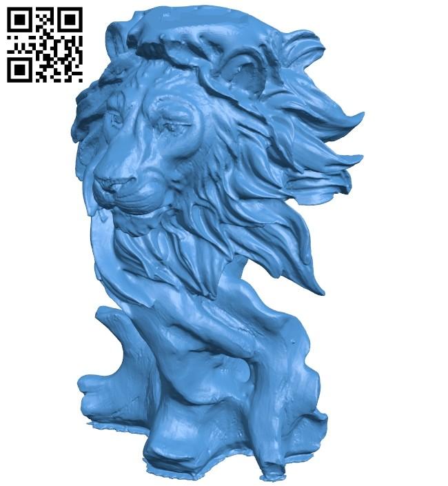 Lion Sculpture B007443 file stl free download 3D Model for CNC and 3d printer