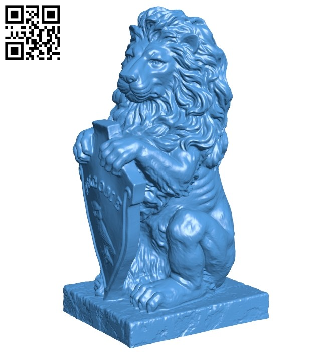 Lion Welcome B007504 file stl free download 3D Model for CNC and 3d printer