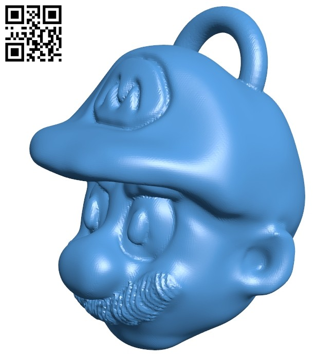 Mario world keychain B007426 file stl free download 3D Model for CNC and 3d printer
