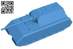 Maus tank B007205 file stl free download 3D Model for CNC and 3d printer