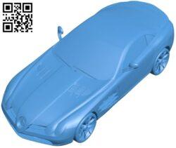 Mercedes SLR Car B007396 file stl free download 3D Model for CNC and 3d printer