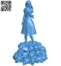 Miss Alice skulls B007341 file stl free download 3D Model for CNC and 3d printer