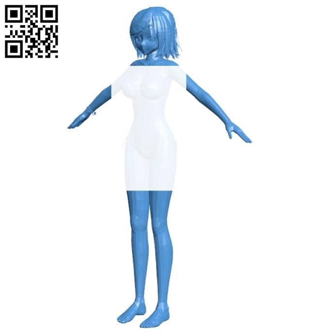 Miss Anime bikini B007377 file stl free download 3D Model for CNC and 3d printer