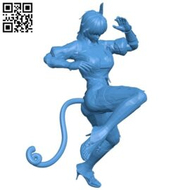 Miss Ayane cat B007175 file stl free download 3D Model for CNC and 3d printer