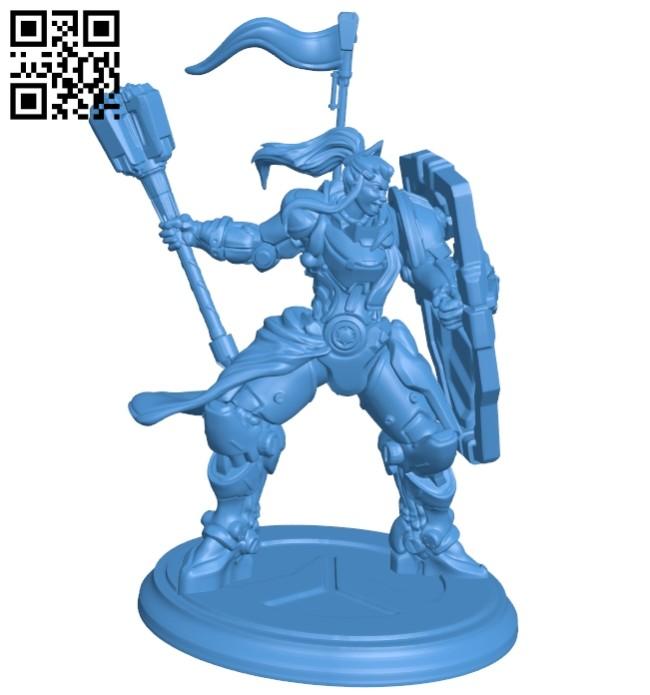 Miss Brigitte B007594 file stl free download 3D Model for CNC and 3d printer